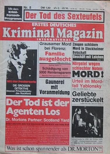 Erstes Deutsches Kriminal Magazin 8/76
