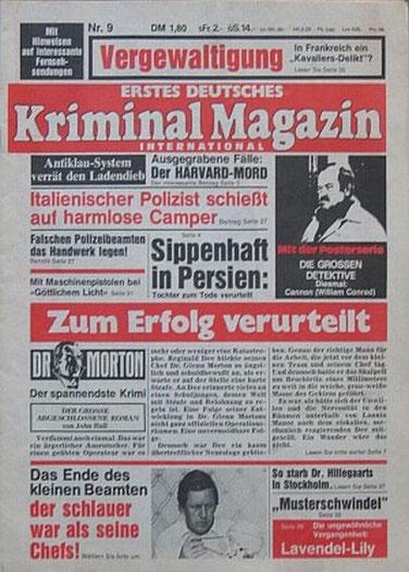 Erstes Deutsches Kriminal Magazin 9/76