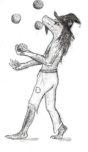 Lupulin Foliorecto beim Jonglieren.