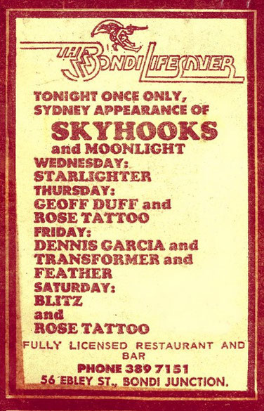 Flyer from 22th - 28th January '78