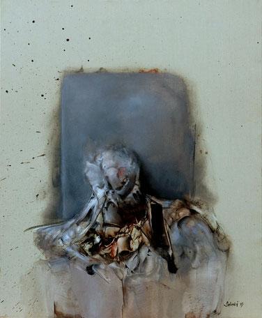 portrait acrylique sur toile dim 92cmx73cm