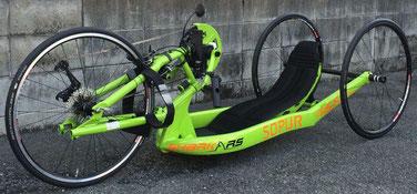 ハンドバイクSHARK RS カスタム・グリーン