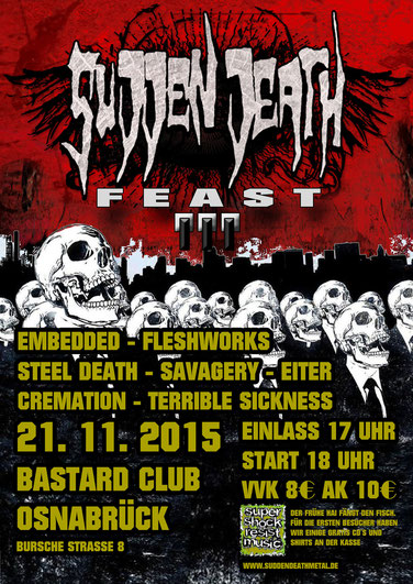Flyer Sudden Death Feast