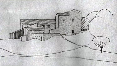 Ferme de La Fare (dessin Jacques Poncin)