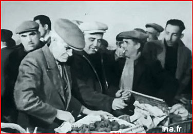 """marché aux truffes Riez """"Vie à Ste Croix du Verdon février 1957"""" capture d'écran"""