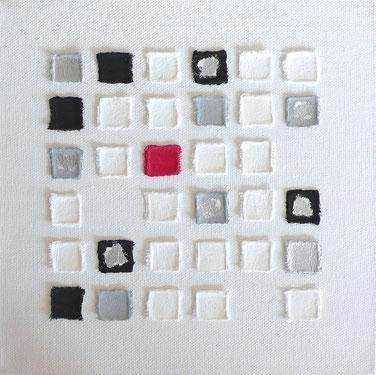 Leinwand schwarz weiß silber rot