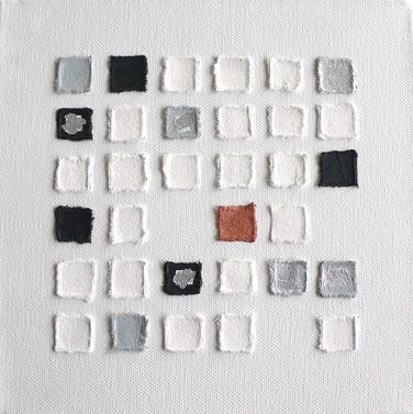 Leinwand schwarz weiß silber kupfer
