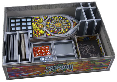 folded space insert organizer sagrada 5-6 player expansion the great facades passion life 2020 promo pack
