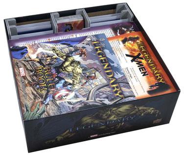 folded space insert organizer legendary marvel deck building game