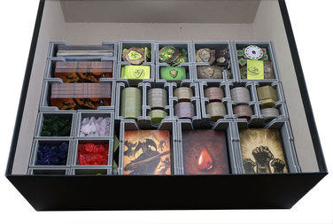folded space insert organizer mage knight shades of tezla krang the lost legion foam core