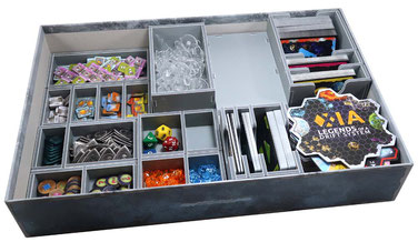 folded space insert organizer xia legends of a drift system foamcore