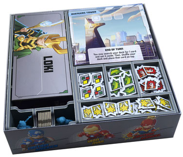 folded space insert organizer marvel united expansions