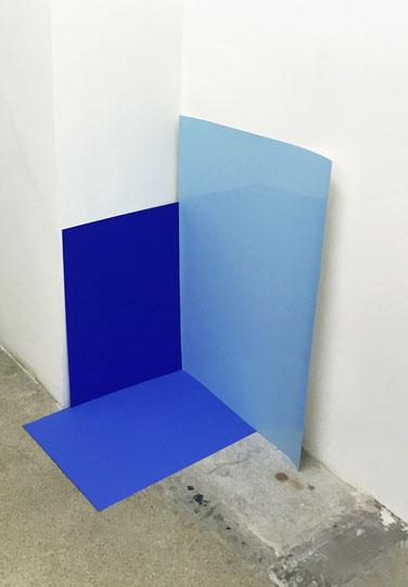 Flat Blue Space / 2015 / Photoprint / 25 x 18 cm