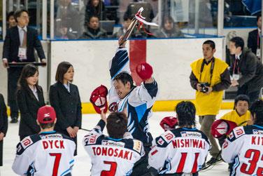 日本製紙クレインズGK#61石川選手〜アジアリーグ 2008-2009 プレレーオフ MVP