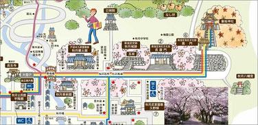 秋月城下町の地図