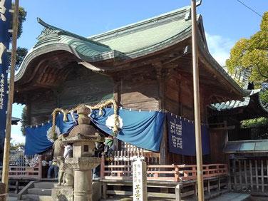 本庄神社拝殿の写真