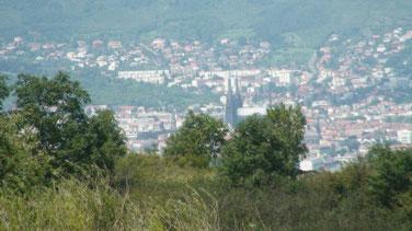 Clermont Ferrand vue de Gergovie