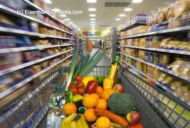 Die perfekte, bunte und saubere Welt des Supermarktes.