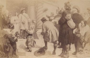 Der Große Kurfürst empfängt die Leineweber: Original in der Aula des Ratgymansiums in Bielefeld