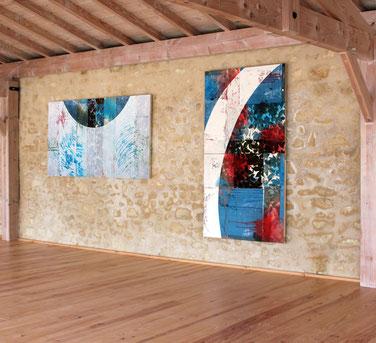 Les dernières oeuvres de Laurent Valera en dialoguent à Livran avec les peintures de Thierry Riffis