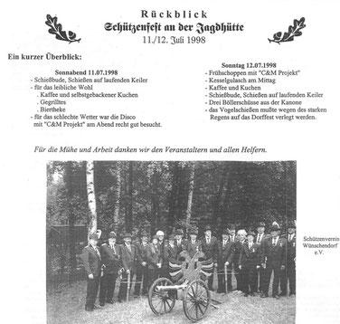 Bild: Wünschendorf Erzgebirge Schützenfest 1998