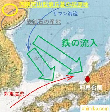 朝鮮半島から邪馬台国への鉄