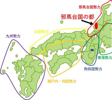 継体天皇時代の勢力図
