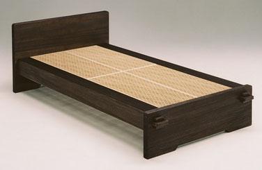 組子ベッド あんばい焼桐仕上げ