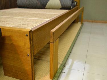 組子ベッド オプションパーツ 隙間埋め板・蜜蝋仕上げ