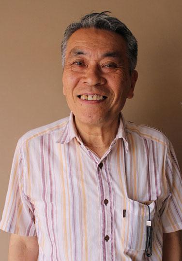 紺屋町通り自治会長の松下清さん。「小さい町だから夜警も精霊船づくりもみんなでやる。結束は強いですね」。