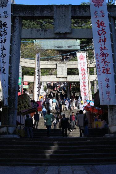 おくんち当日の諏訪神社