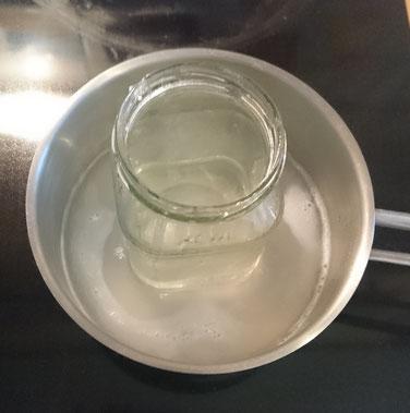Seife wird geschmolzen