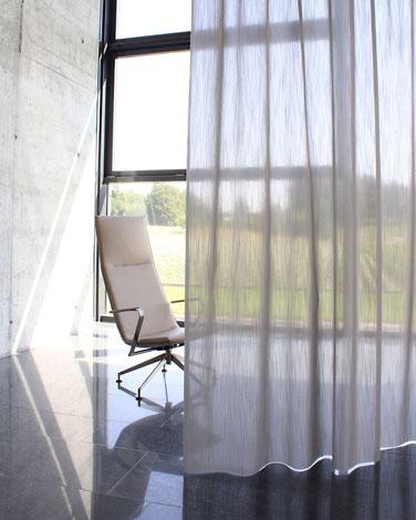 Akustikvorhang, Akustikstoffe, Schalldämpfend Vorhänge, Vorhangfachgeschäft, ruhiges Wohnen, Vorhänge by Ruoss, Creation Baumann