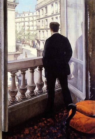 """Gustave Caibellotte, """"Un giovane uomo alla finestra"""" (1875)"""