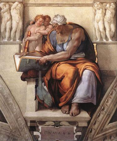 """Michelangelo, """"Sibilla Cumana"""", Cappella Sistina"""