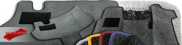 Autofussmatten/ Fahrerhausteppiche/ Automatten - Qualitäten, Farben, Preise und Kettelungen - Mertex-Ihr Onlineshop in Weeze