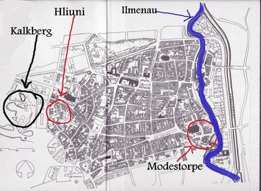 alte Stadtkarte