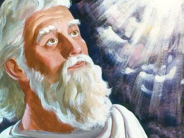 Moïse est descendu du mont Sinaï avec les tablettes de la Loi et le visage resplendissant de lumière car il reflétait la puissance et la gloire de Jéhovah Dieu. Le rayonnement était si intense que le peuple craignait de s'approcher de lui.