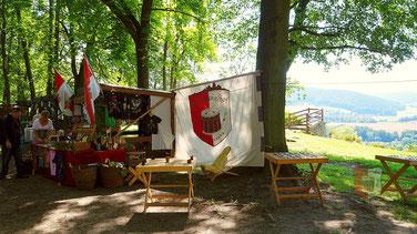 Burgfest Orlamünde Spielmannshof Seitenroda Marktstand
