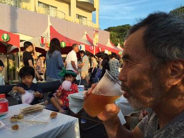 昨日のお向かいの夏祭りの図! 生ビール・食べ物も全て50円 かなり飲んじゃいました~