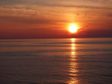 最後は全てがオレンジ色に包まれました~♪ 本日の夕日!