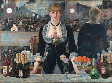 photo commons.wikimedia.org / Edouard Manet, Un bar au Folies bergère