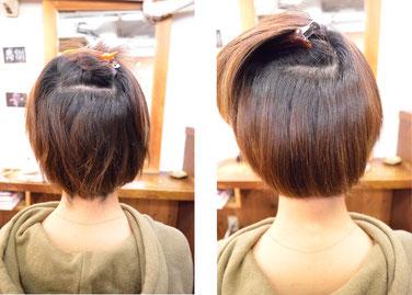 【縮毛矯正・ショートボブ】縮毛矯正で丸みのある髪型は不可能ではない