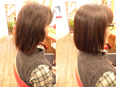 縮毛矯正 髪型 | 肩上のボブスタイルに-横浜人気美容室YUME-YUI~夢結~