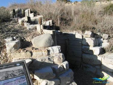 Trincheras habilitadas para visita