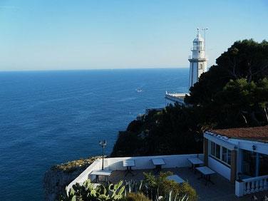 Xàbia, restaurant i far del cap de la Nau, Alicante