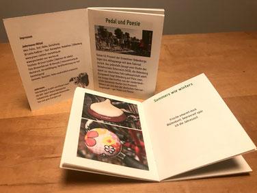 """Broschüre Jedermanns Nützel FAHR RAD in Oldenburg, ein """"Geschenk aus Worten"""" zum Mitnehmen"""