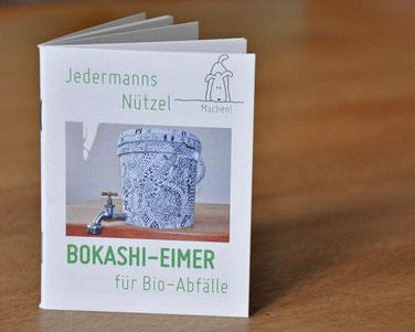 """""""Jedermanns Nützel"""" als """"Geschenk aus Worten"""". Beispielseite aus dem Mini-Buch """"Bokashi-Eimer für Bio-Abfälle"""""""