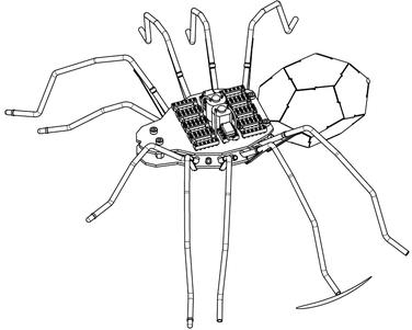 CAD Modell der Roboterspinne