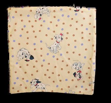 """Coussin """"Dalmatien blanc"""", personnalisable au verso."""